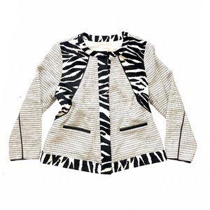 NWT Chico's Animal Striped Textured Blazer Jacket